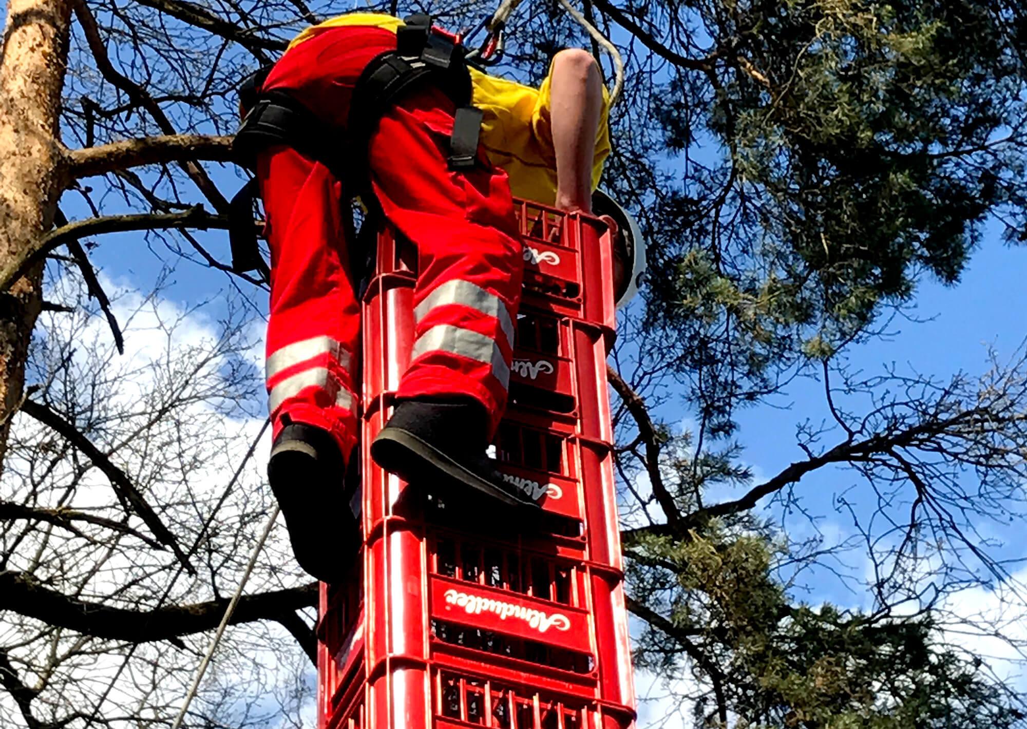 Kistenklettern Stunt at Adrenalinpark